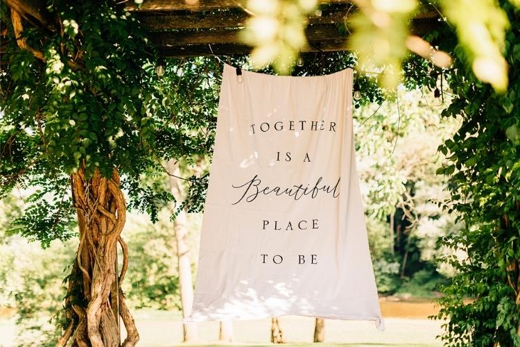 Helen and Chris: A Micro Wedding in Lancaster PA - wedding signage
