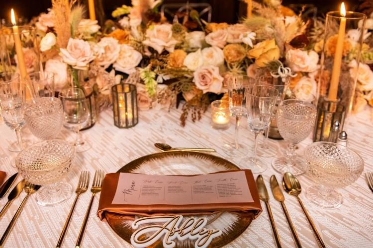 romantic-table-setting-with-flower-Romantic Valentine's Day Dinner for Two at Home- valetines-dinner-to-go-the-jdk-group