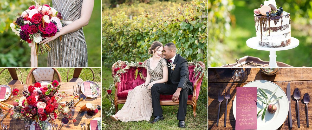 Copper + Merlot Fall Wedding Photo Shoot