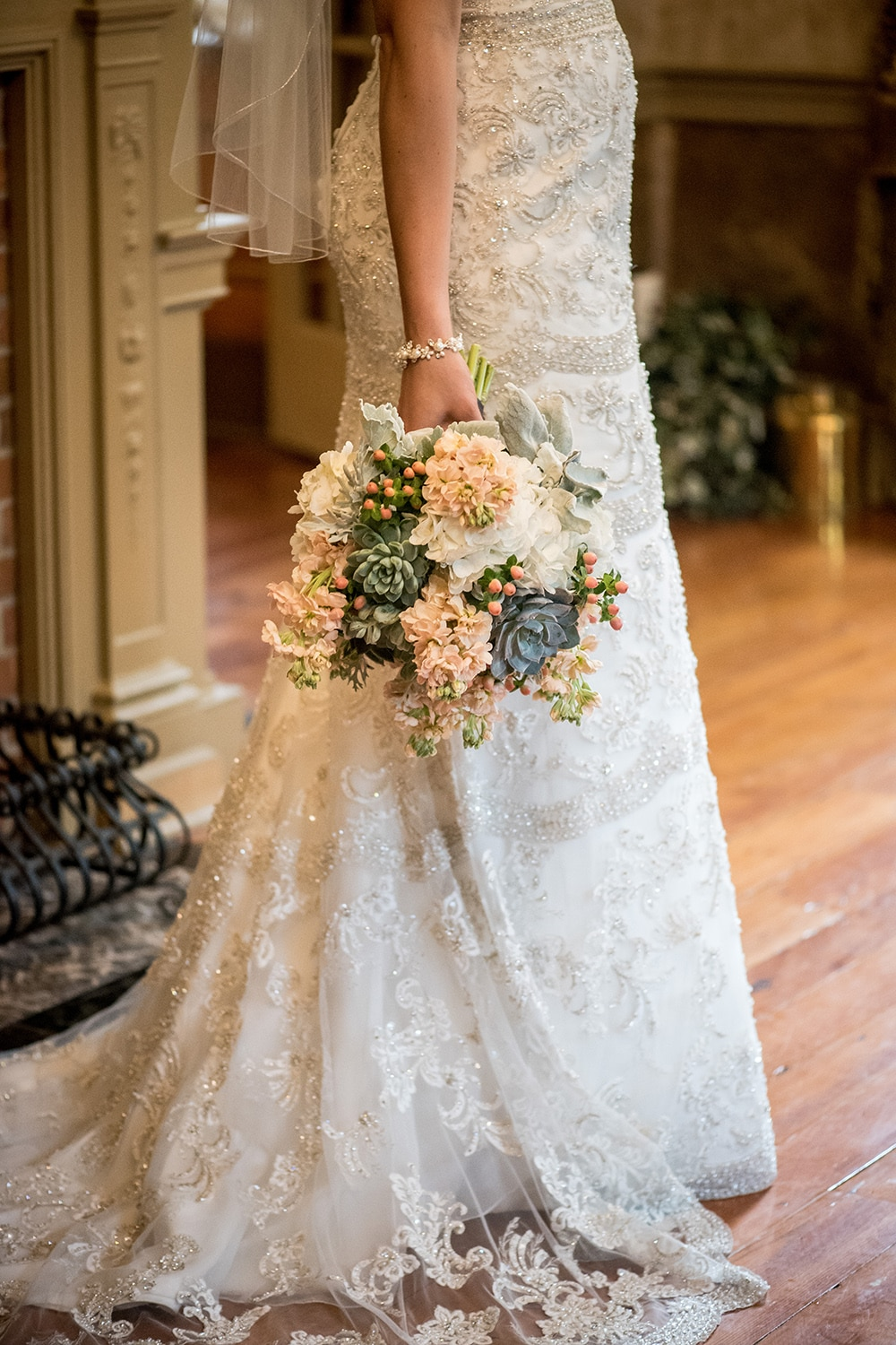 Victorian wedding at moonstone manor in charming elizabethtown pa elizabethtown victorian wedding beaded gown 1 junglespirit Images