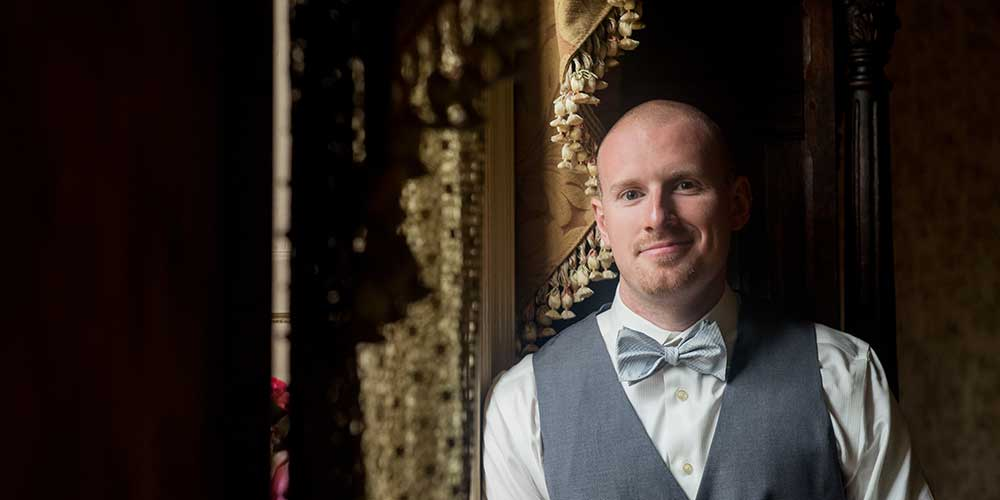 Elizabethtown Victorian Wedding groom