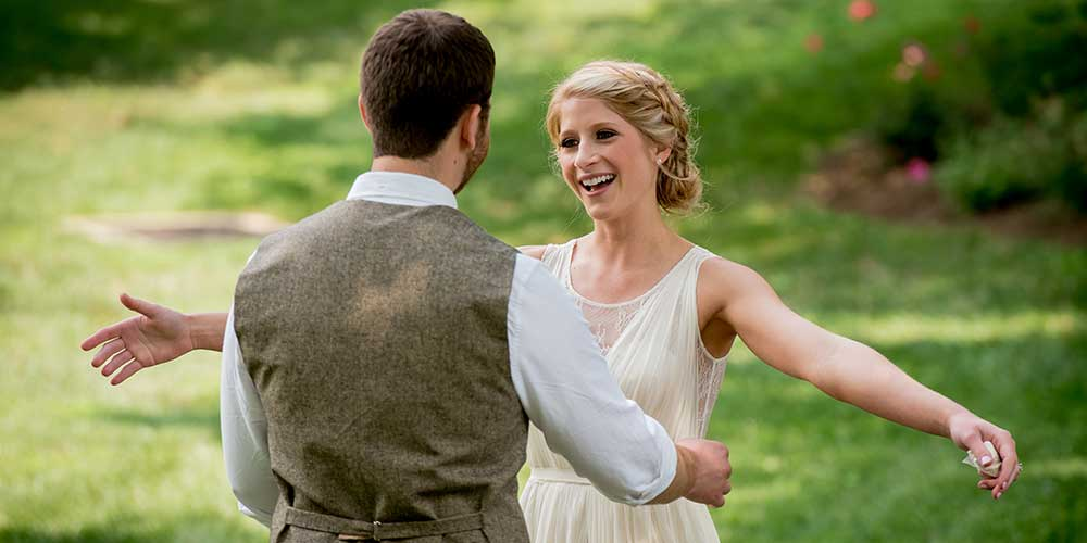 Lancaster Rustic Wedding First Look