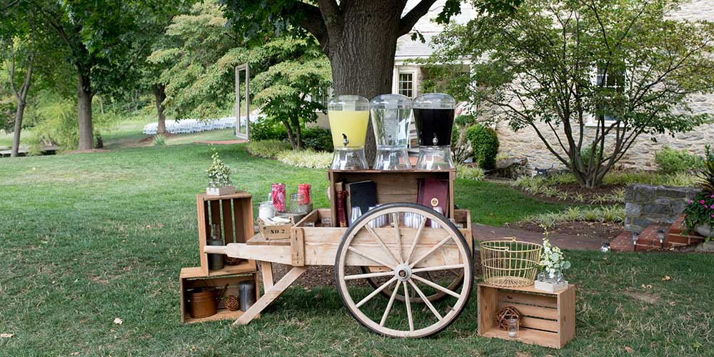 Lancaster Rustic Wedding Lemonade Cart