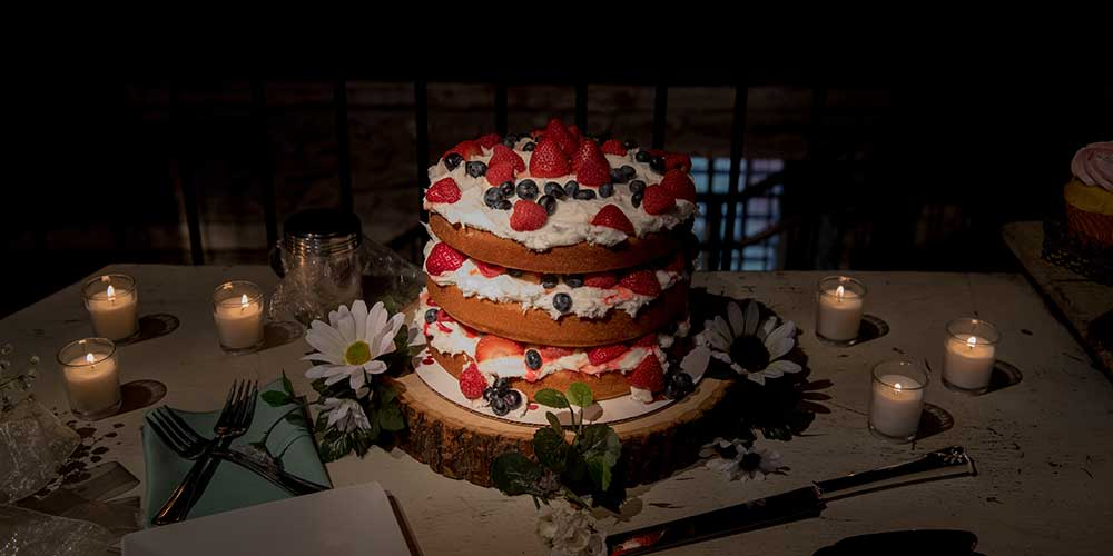 Lancaster Rustic Wedding cake