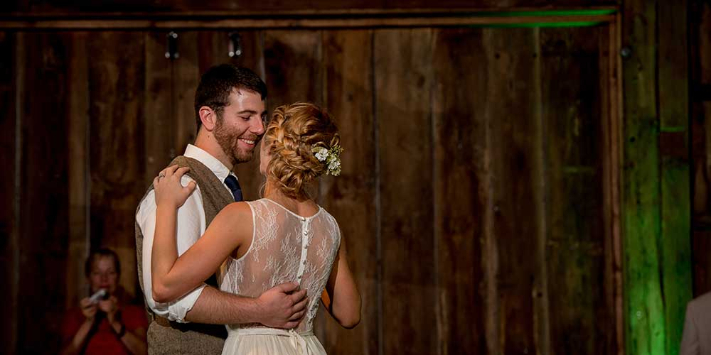 Lancaster-Rustic Wedding couple dance