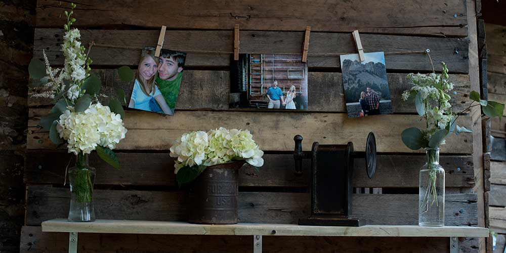 Lancaster Rustic Wedding hanging pix