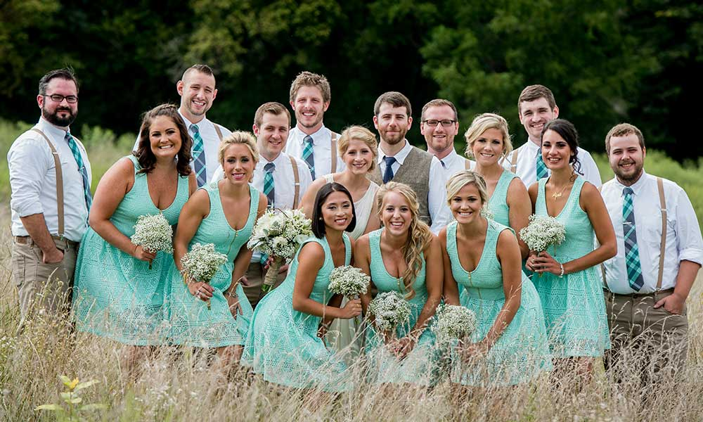 Lancaster Rustic Wedding party