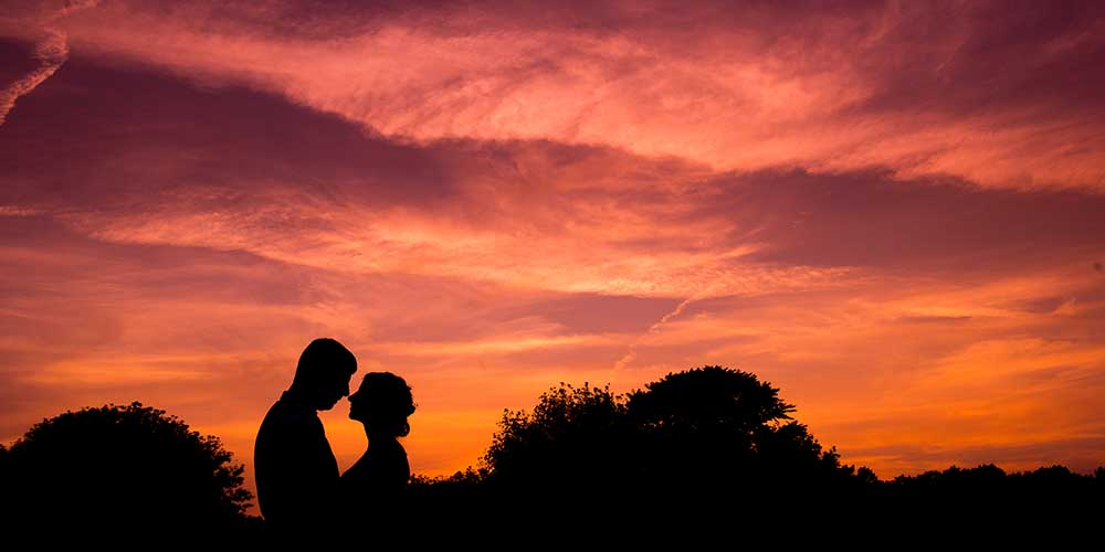 Lancaster Rustic Wedding sunset