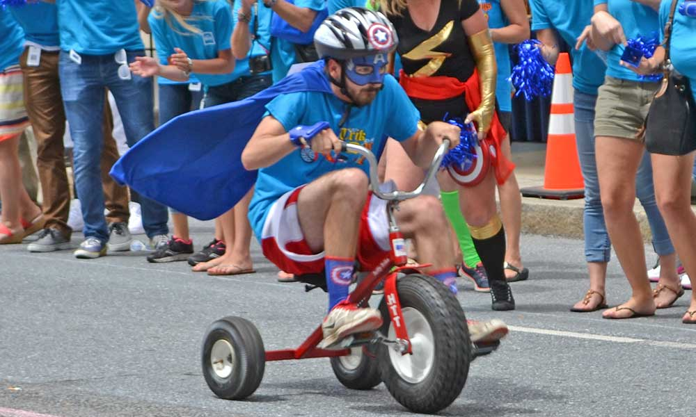 United Way Trike Race super hero