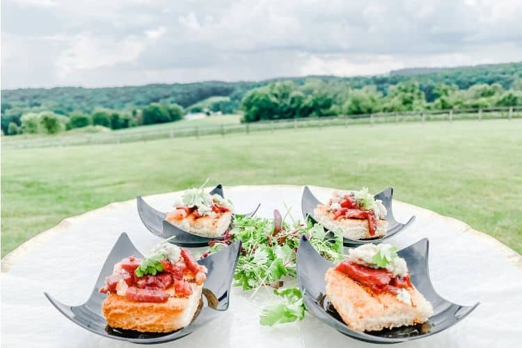Why Microweddings in Central PA are Trending. Small food dish with artistic, fancy detail